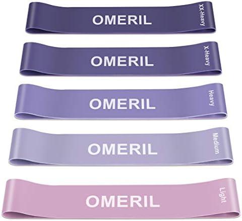 OMERIL Resistance Bands [Set of 5], Skin-Friendly Resistance ...