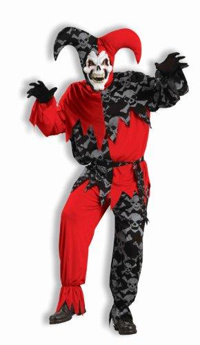 Forum Novelties Men's Deluxe Sinister Jester Costume, Multi, Standard