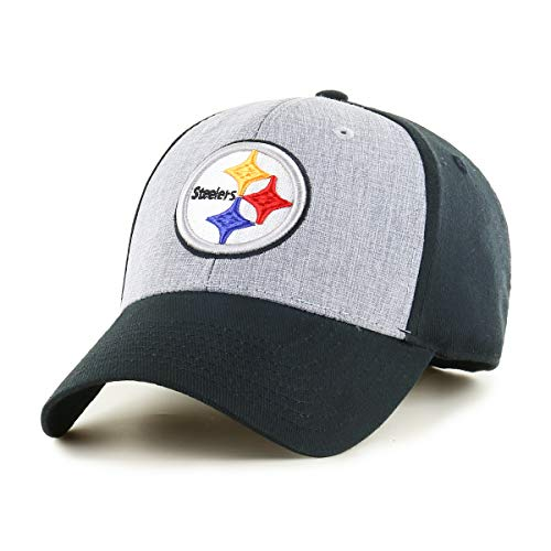 OTS NFL Pittsburgh Steelers Male Essential All-Star Adjustable Hat, Black, One Size