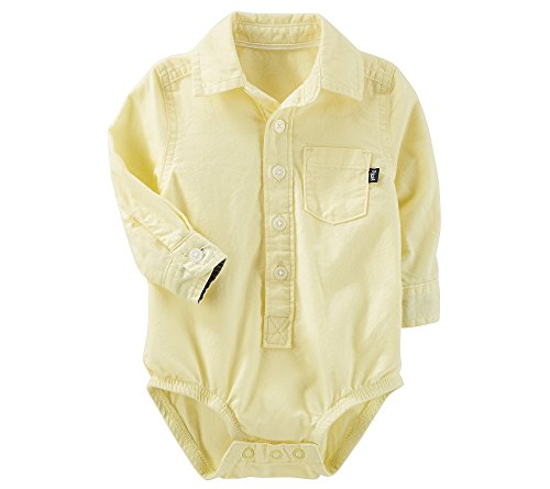 OshKosh B'Gosh Baby Boys' Button Front Poplin Bodysuit 6-9 Months