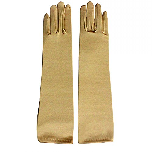 Miranda's Bridal Women's Wedding Formal Satin Gloves Costume Glove Gold]()