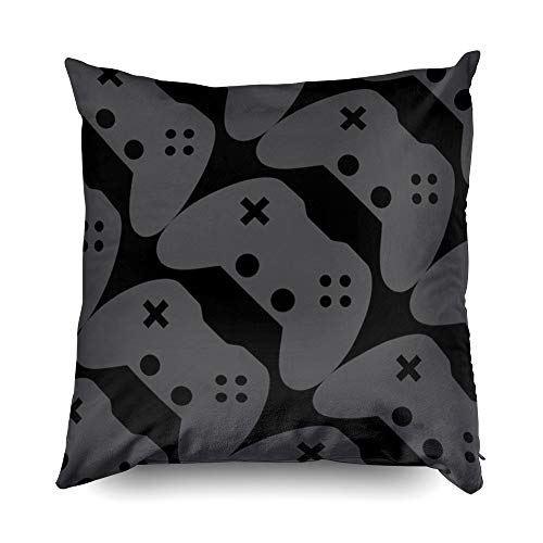 TOMWISH Hidden Zippered Pillowcase Video Game Controller Accent 16X16Inch,Decorative Throw Custom Cotton Pillow Case Cushion Cover for Home Sofas,bedrooms,Offices,and More