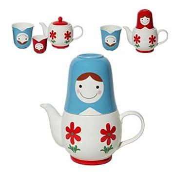 Miya Company Japanese Blue Matroshka Stackable Tea For Two  sc 1 st  Amazon.com & Amazon.com | Miya Company Japanese Blue Matroshka Stackable Tea For ...