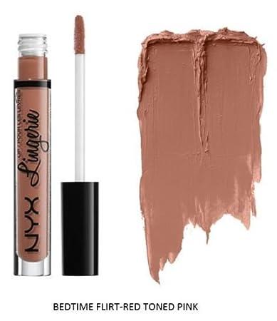 14b1c78f4add2 Amazon.com : SEOWTOYS Factory Sealed NYX Lip Lingerie Liquid Matte Lipstick  Shade Bedtime Flirt Red Tone Pink : Beauty