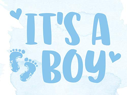 It's A Boy: Baby Shower Guest Book - Blue Baby Feet with Advice for Parents & Wishes for Baby and Gift Log ()