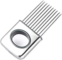 Stainless Steel Onion Holder Slicer Vegetable tools kitchen gadget