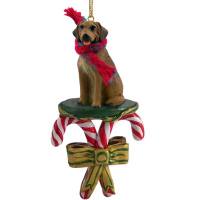 Rhodesian Ridgeback Dog Candy Cane Christmas Holiday Ornament ()