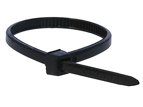 - Monoprice 105755 4-Inch 18LBS Cable Tie, 100-Piece/Pack, Black