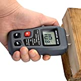 Goodfans Digital Pro Moisture Meter with LCD Hydrometer for Wood Test Moisture in Firewood, Furniture, Floor, Trees (Battery Included) 0%-99.9%
