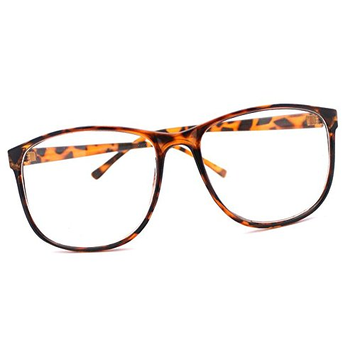 MJ Boutique's Tortoise Brown Thin Nerd Glasses Clear - Brands Boutique Eyewear