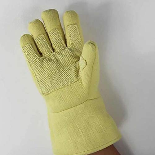 DAN Welding Gloves Heat Resistant Cow Split Leather/Camping/Cooking Welder Fireplace by DAN (Image #4)