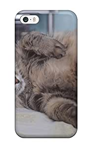 JudyRM Premium Protective Hard Case For Iphone 5/5s- Nice Design - Lazy Cat