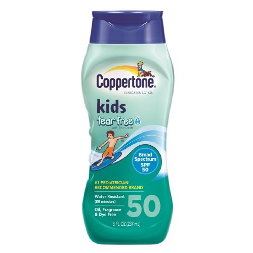 Coppertone Kids Sunscreen Lotion, Tear Free with Zinc Oxide, SPF 50 8 oz (237 ml) Pack of 6 by Coppertone