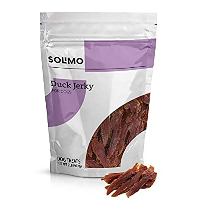 Solimo Jerky Dog Treats, 2 lb Bag (Chicken, Duck, Sweet Potato Wraps)
