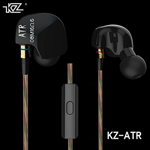 Gotd Newest KZ ATR Dynamic Balanced In Ear Bass HIFI DJ Studio Stereo Music Earphones Headphone Earbuds For Mobile Phone iPhone Samsung MP3 MP4 Music Player (Without (Technology Related Halloween Costumes)