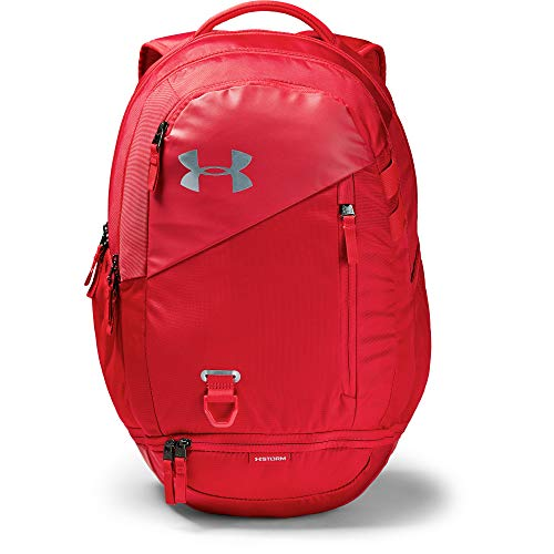Under Armour Hustle 4.0 Backpack, Red (600)/Silver, One Size Fits All