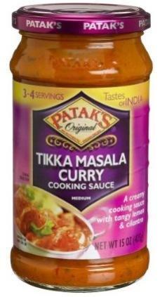 Patak's Tikka Masala Cooking Sauce 15oz (Tangy Lemon & Cilantro)