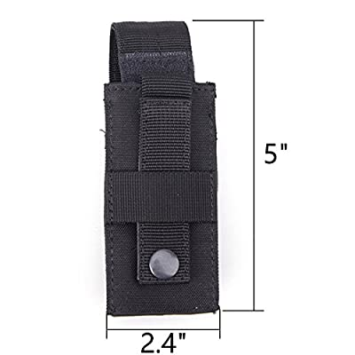 XTACER Tactical Molle Single Pistol Mag Pouch Utility Flashlight Bag Holster EDC Waist Belt Tools Pouch