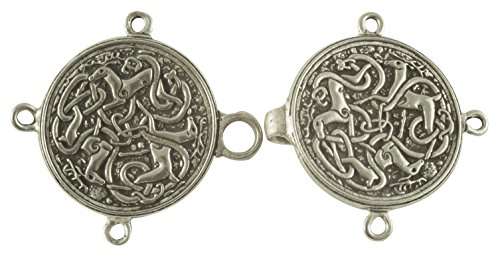 Celtic Hart (Stag or Deer) Cloak or Cape Clasp - Pewter]()