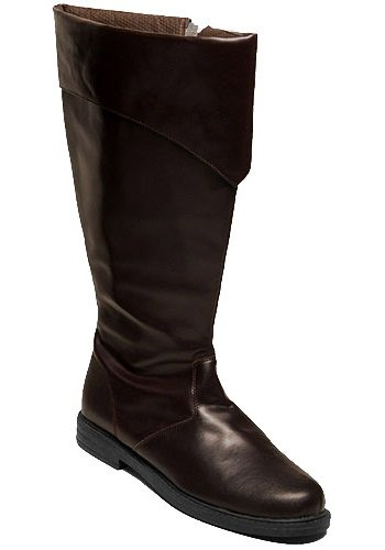 Costume Jedi Boots (Funtasma Men's Captain-105/BN Dress Boot,Brown Polyurethane,Medium / 10-11 D(M))
