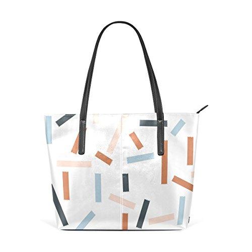 COOSUN Muster PU Leder Schultertasche Handtasche und Handtaschen ...