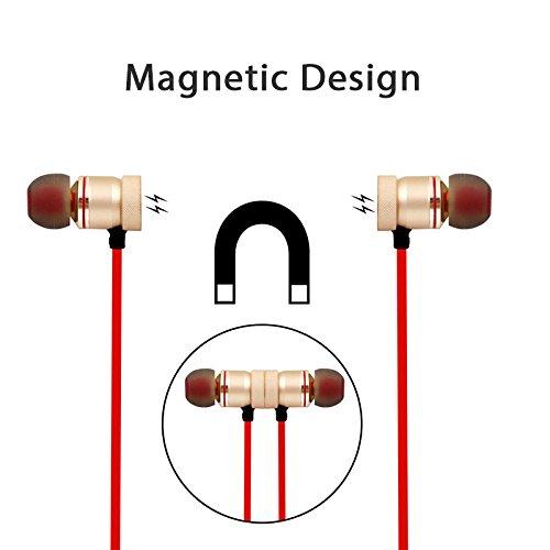 inal/ámbricos LamberthcV Auriculares inal/ámbricos con Bluetooth in-ear im/án deportivo reducci/ón de ruido para iPhone y Android est/éreo manos libres