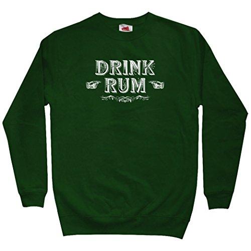 (Smash Transit Men's Drink Rum Sweatshirt - Dark Green, Large)