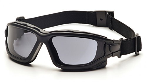 (12 Pair) Pyramex I-Force Glasses Black Strap-Temples/Gray Anti-Fog Lens - Temples Lens Gray