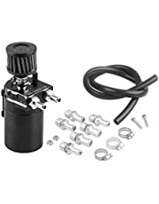 Decdeal Universal Oil Catch Can with Air Filter Breather Engine Air Oil Separator Tank Reservoir Tank