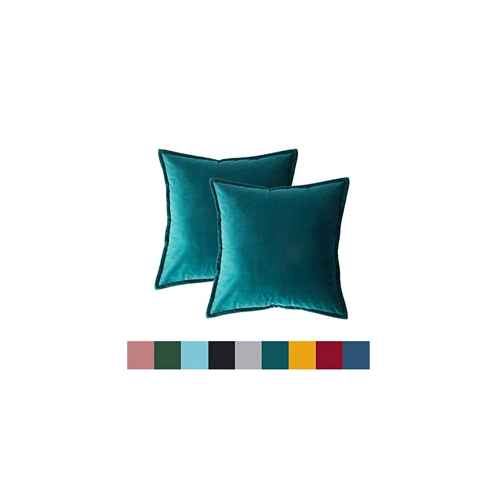 Bedsure Velvet Cushion Cover Teal
