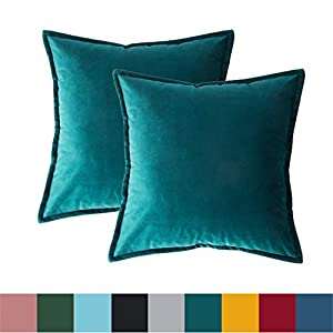 Bedsure Velvet Cushion Cover 2 Pack