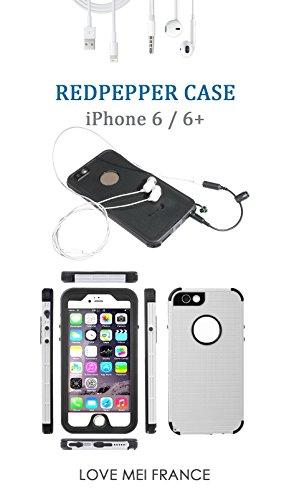 COQUE iPhone 6/6S REDPEPPER CASE Swim- Antichoc et etanche -Blanc