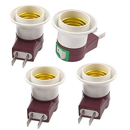 Bulbo nos enchufe E27 Luz 4pcs adaptador titular casquillo de la lámpara Base
