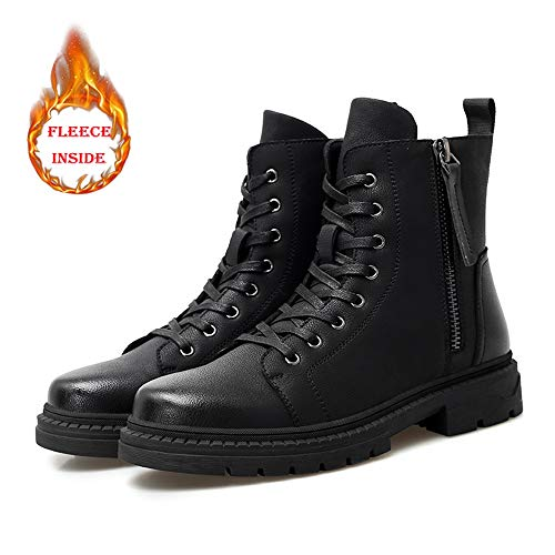 Winter All'usura Zipper Uomo Moda Inside Stivali Bnd Black Comodo Durevole; Personality Top Casual optional Resistere shoes High Convenzionale Warm Fleece Boot wA8UX