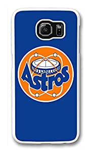 Galaxy S6 Case, S6 Cases, Custom Baseball Houston Astros Galaxy S6 Bumper Case [Scratch Resistant] [Shock-Absorbing] Hard Plastic White Protective Cover Cases for New Samsung Galaxy S6
