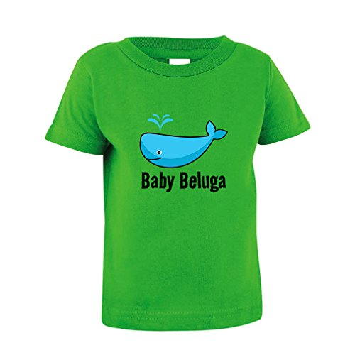 Baby Beluga Blue Whale Toddler Baby Kid T-Shirt Tee Apple Green 4T