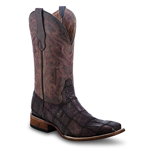 Circle G by Corral Mens Caiman Patchwork Western Boots Chocolate bbroP3hIgT