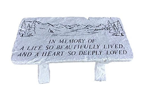 Beautiful Life Memorial Bench 26x12x12 (Plaques Memorial For Outdoor Benches)