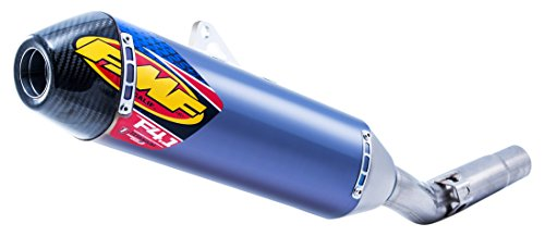 FMF Racing Factory 4.1 Slip-On - Blue Anodized Titanium - Carbon Fiber Endcap, Color: Blue, Material: Titanium 044400 -