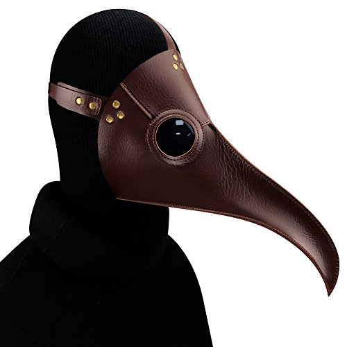 Hibiscus HIBIRETRO Steampunk Gothic Retro Plague Beak Doctor Bird Mask Halloween Christmas Costume Props (Style11)