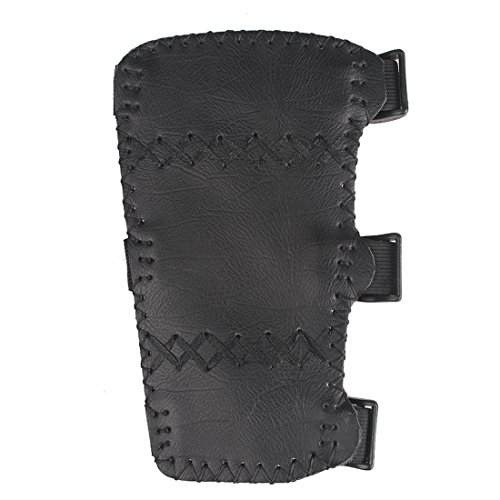 Krayney Adult Youth Leather 3-Strap Arm Guard Hunting Shooting Arrow Bow Gear Accessories, Archery Arm Protector