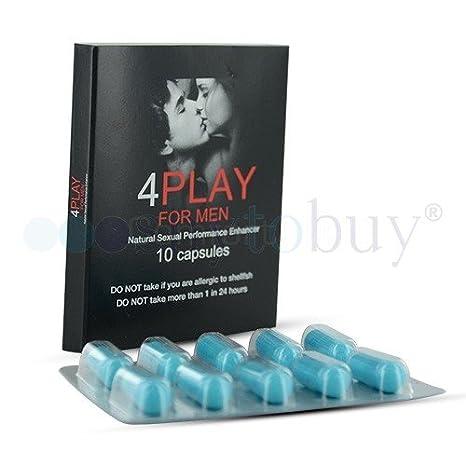 4playformen TM - 4 cajas de 10 cápsulas cada una: Amazon.es: Salud y cuidado personal