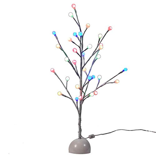 Kurt Adler Multi Twinkle LED Gumball Tree, 2-Feet, White (Drop Gum Tree)