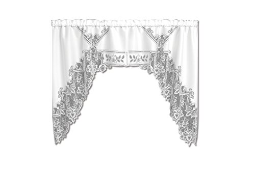 Cheap Heritage Lace Heirloom 70-Inch Wide by 45-Inch Drop Swag Pair, White