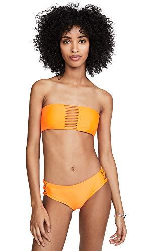 MIKOH Women's Sunset Bikini Top, Mango Pop, Orange, Medium (Mikoh Bikini)