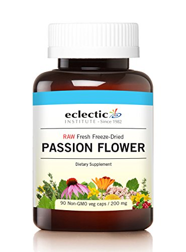 Eclectic Passion Flower Cog Freeze Dried Vegetables with Glass, Blue, 90 Count Eclectic Institute Passion Flower