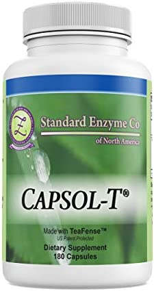 CAPSOL-T - Food Based Supplement - Made with Decaffeinated Green Tea and Red Chili Pepper Extracts 180 Capsules