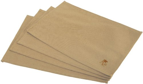 Tommy Bahama Palm Tree Logo, Pack of 4 Placemats, Khaki