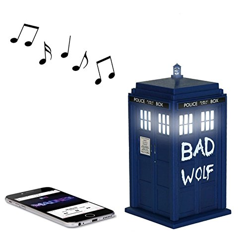 Doctor Who Bad Wolf TARDIS Wireless Bluetooth Speaker with LED's and Sound (Bad Owl Costume)