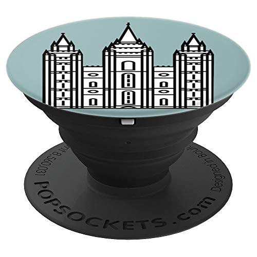 Salt Lake City Latter Day Saints Mormon Temple - PopSockets Grip and Stand for Phones and Tablets (Temple Pedestal)